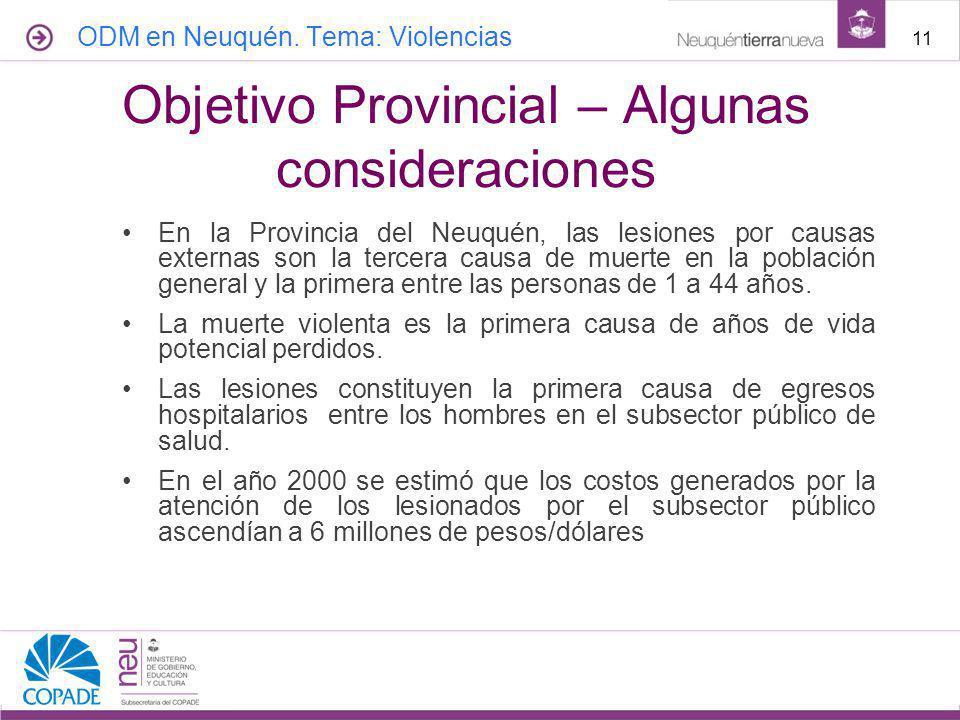 Objetivo Provincial – Algunas consideraciones