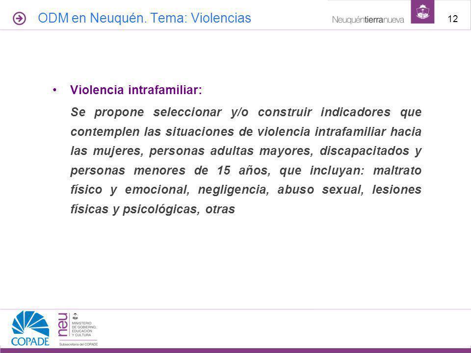ODM en Neuquén. Tema: Violencias
