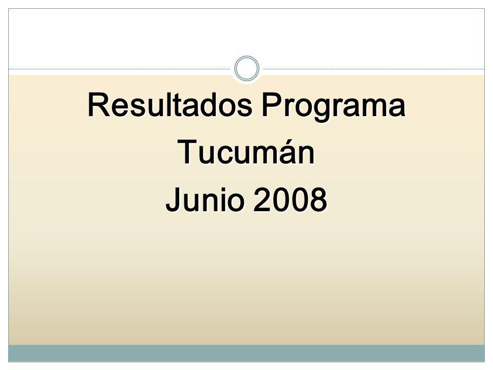 Resultados Programa Tucumán Junio 2008