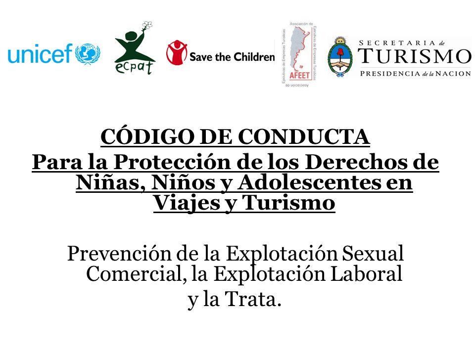 Prevención de la Explotación Sexual Comercial, la Explotación Laboral