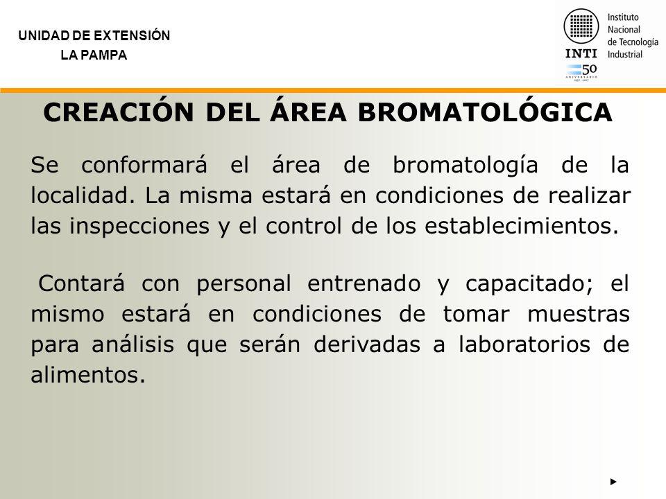 CREACIÓN DEL ÁREA BROMATOLÓGICA