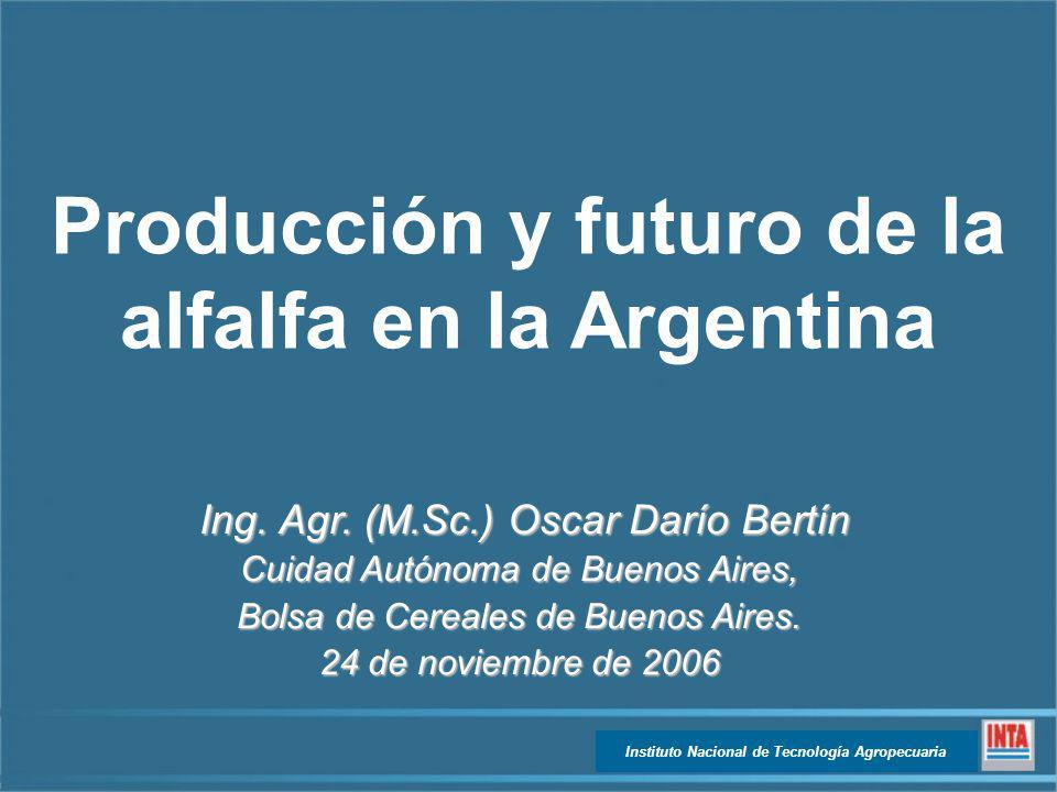 Producción y futuro de la alfalfa en la Argentina