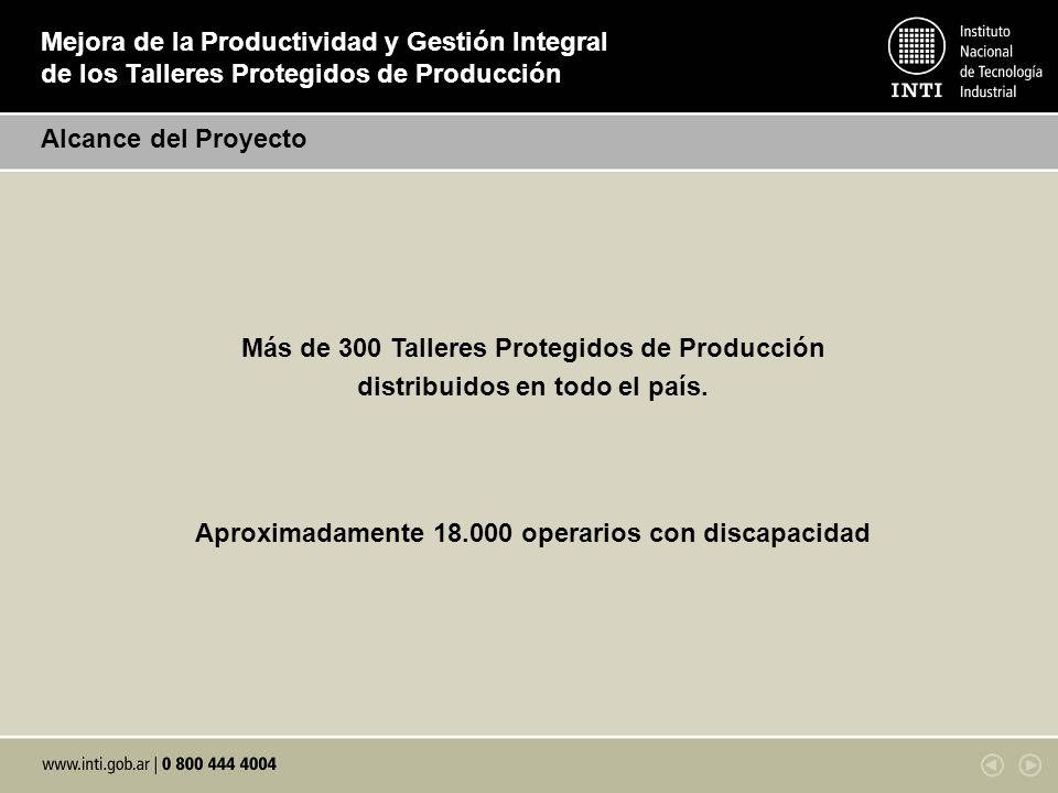 Más de 300 Talleres Protegidos de Producción