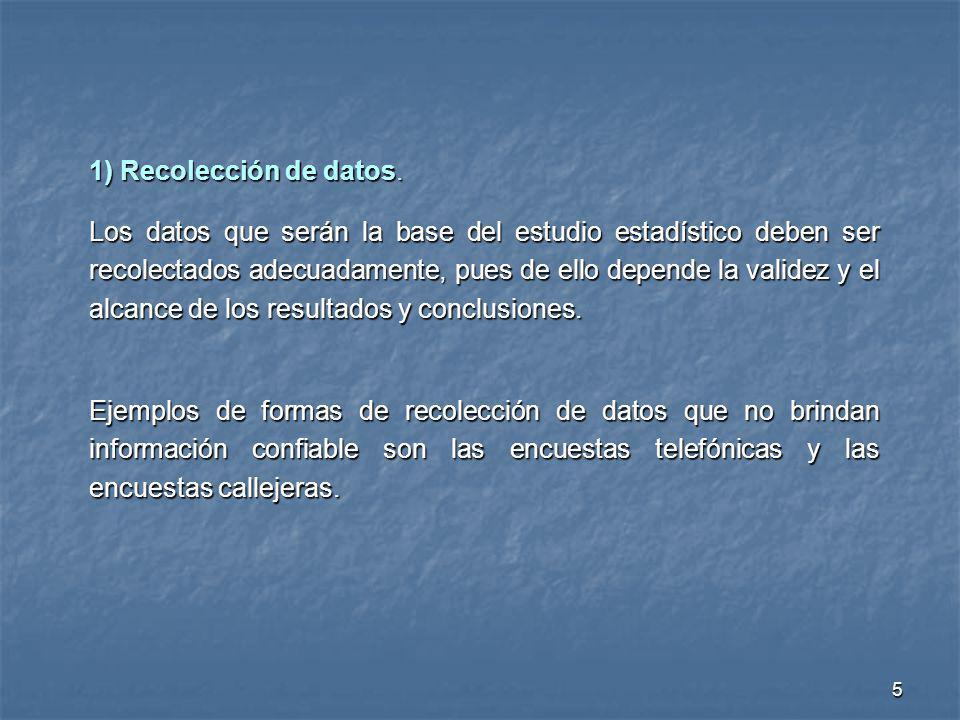 1) Recolección de datos.