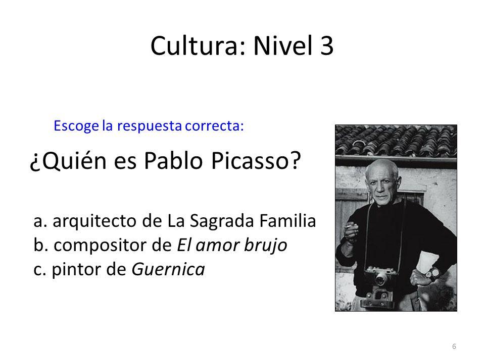Cultura: Nivel 3 ¿Quién es Pablo Picasso