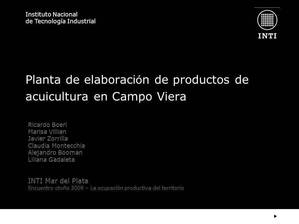 Planta de elaboración de productos de acuicultura en Campo Viera