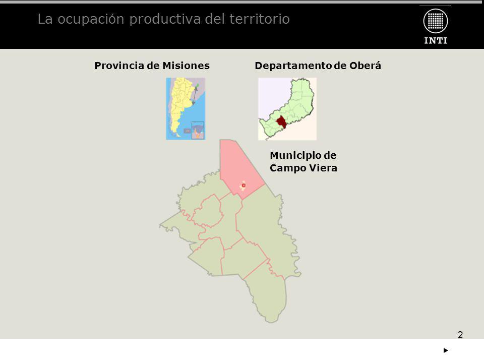 La ocupación productiva del territorio