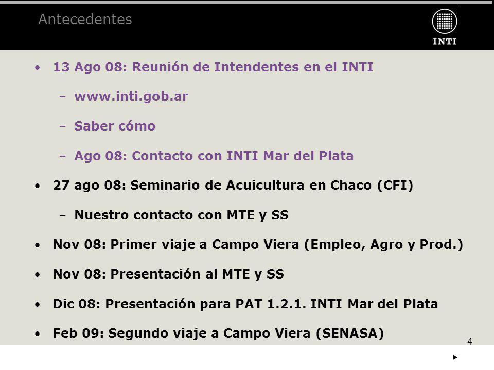 Antecedentes 13 Ago 08: Reunión de Intendentes en el INTI