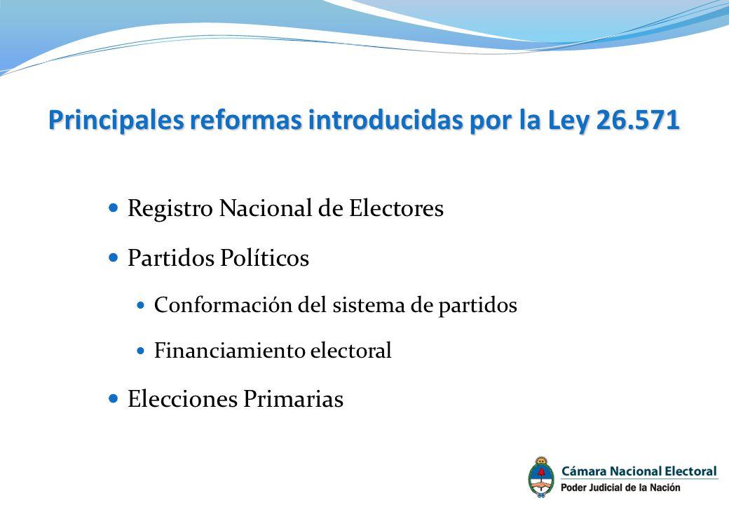 Principales reformas introducidas por la Ley 26.571