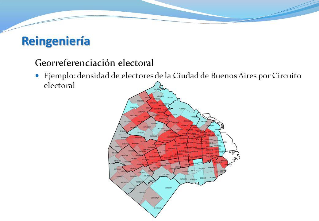Reingeniería Georreferenciación electoral