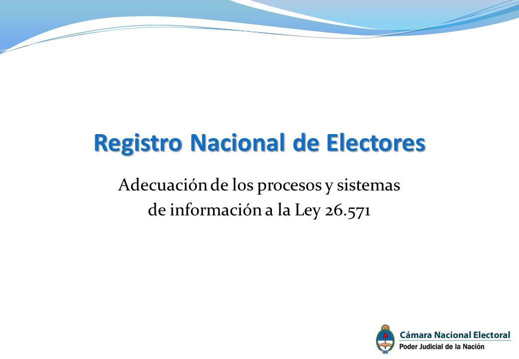 Adecuación de los procesos y sistemas de información a la Ley 26.571