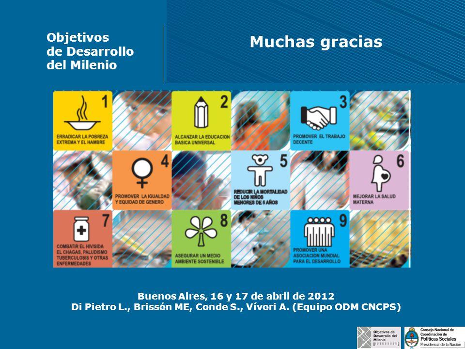 Muchas gracias Objetivos de Desarrollo del Milenio