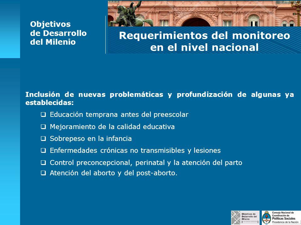 Requerimientos del monitoreo en el nivel nacional