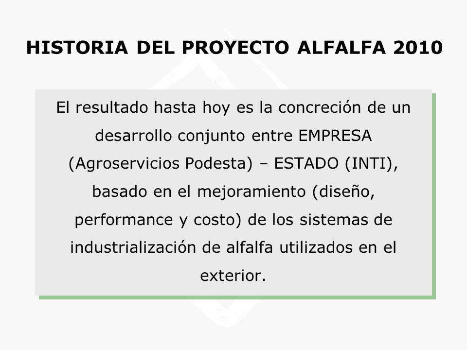 HISTORIA DEL PROYECTO ALFALFA 2010
