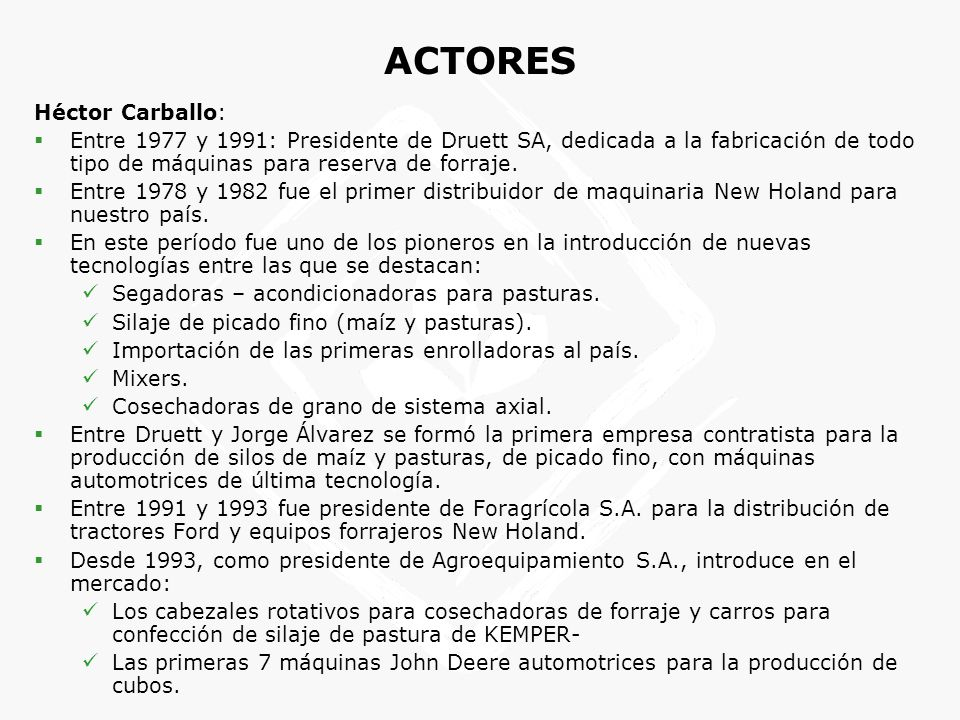 ACTORES Héctor Carballo: