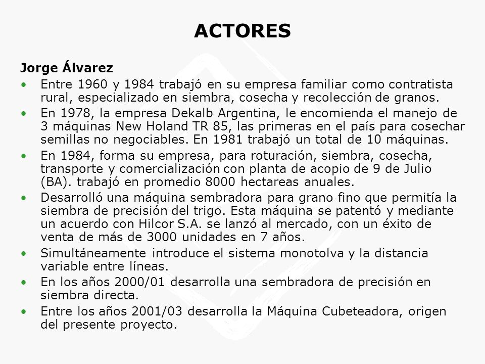 ACTORES Jorge Álvarez.