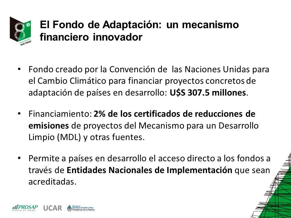 El Fondo de Adaptación: un mecanismo financiero innovador