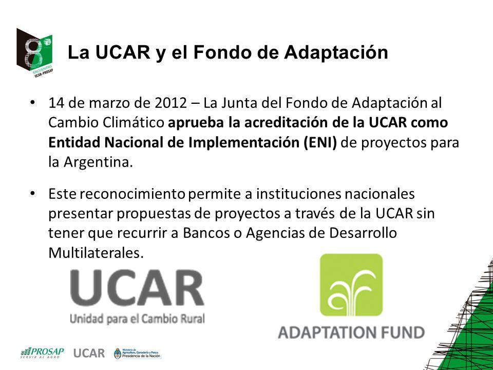 La UCAR y el Fondo de Adaptación