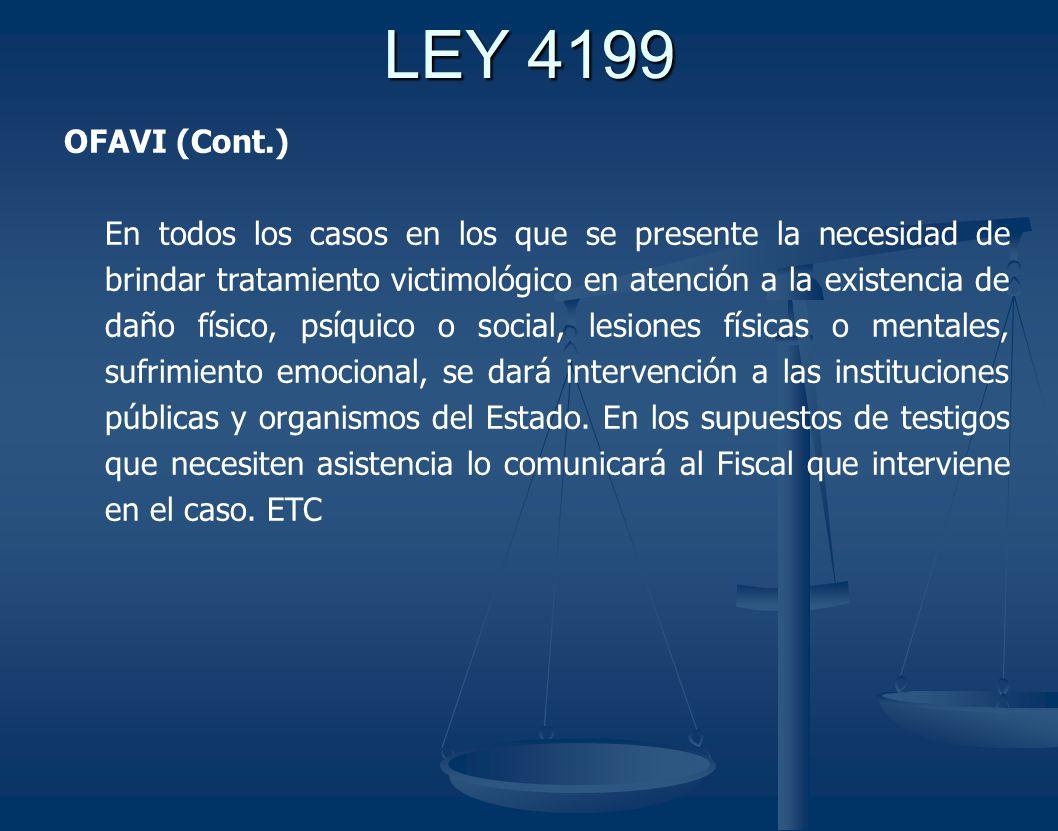 LEY 4199 OFAVI (Cont.)