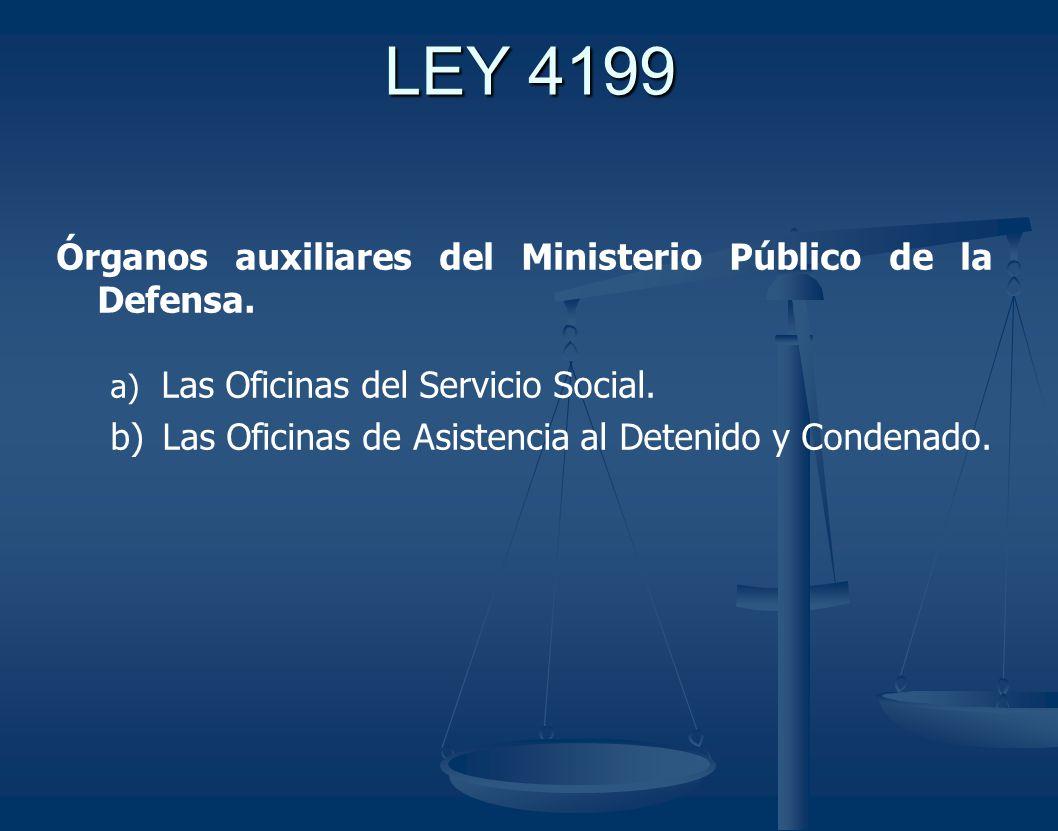 LEY 4199 Órganos auxiliares del Ministerio Público de la Defensa.