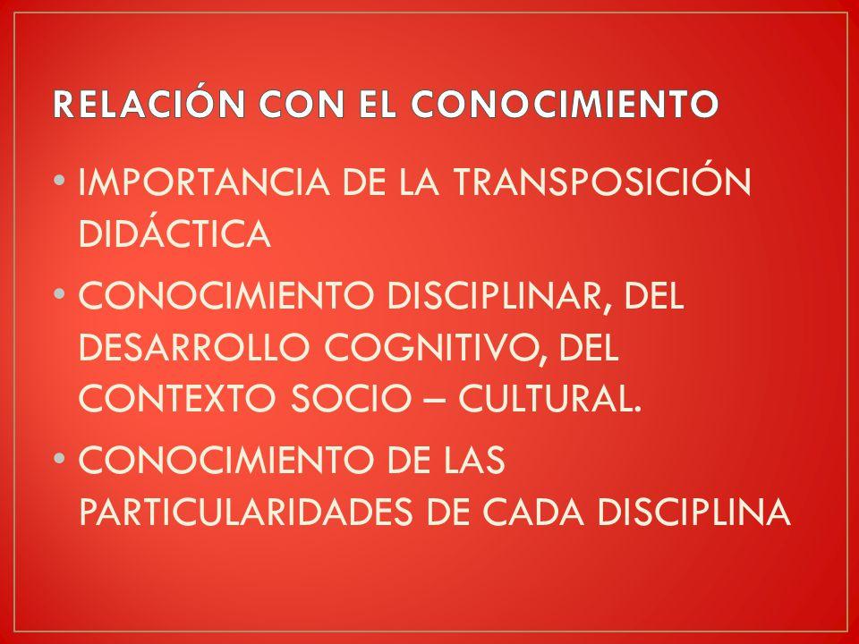 RELACIÓN CON EL CONOCIMIENTO
