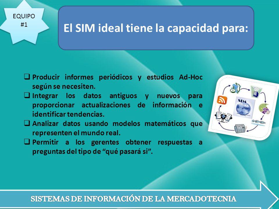 El SIM ideal tiene la capacidad para:
