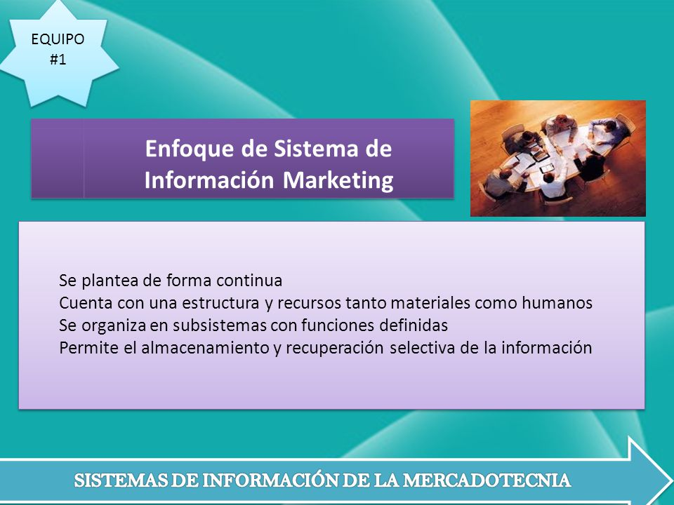 Enfoque de Sistema de Información Marketing