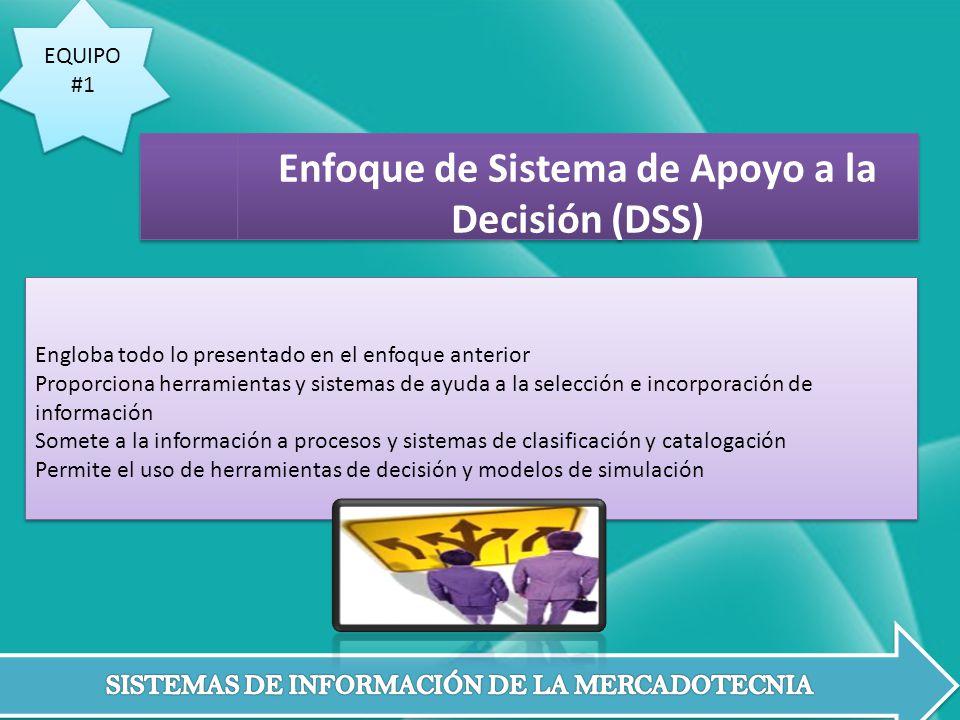 Enfoque de Sistema de Apoyo a la Decisión (DSS)