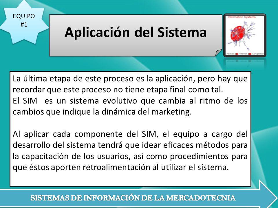 Aplicación del Sistema
