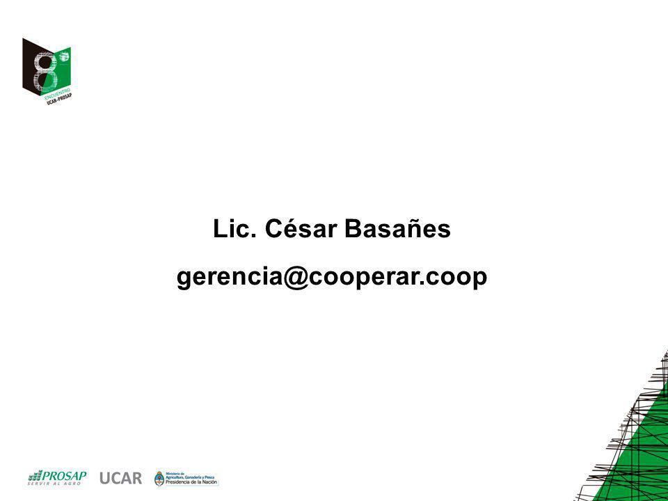 Lic. César Basañes gerencia@cooperar.coop