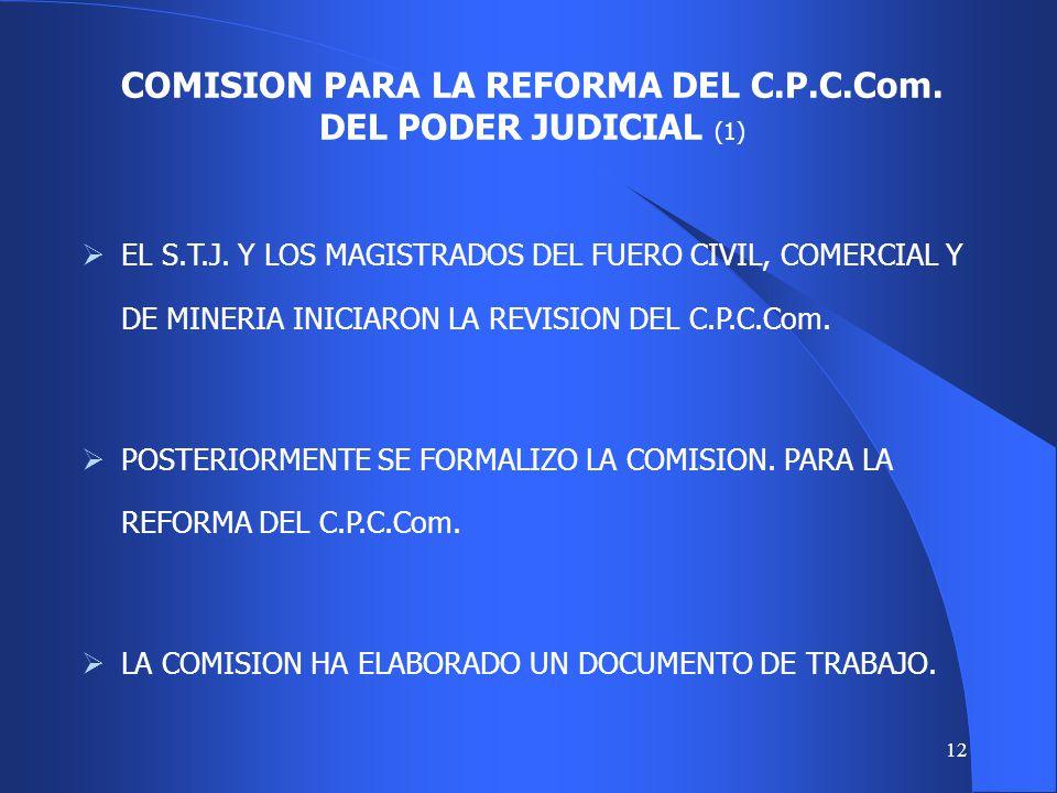 COMISION PARA LA REFORMA DEL C.P.C.Com. DEL PODER JUDICIAL (1)