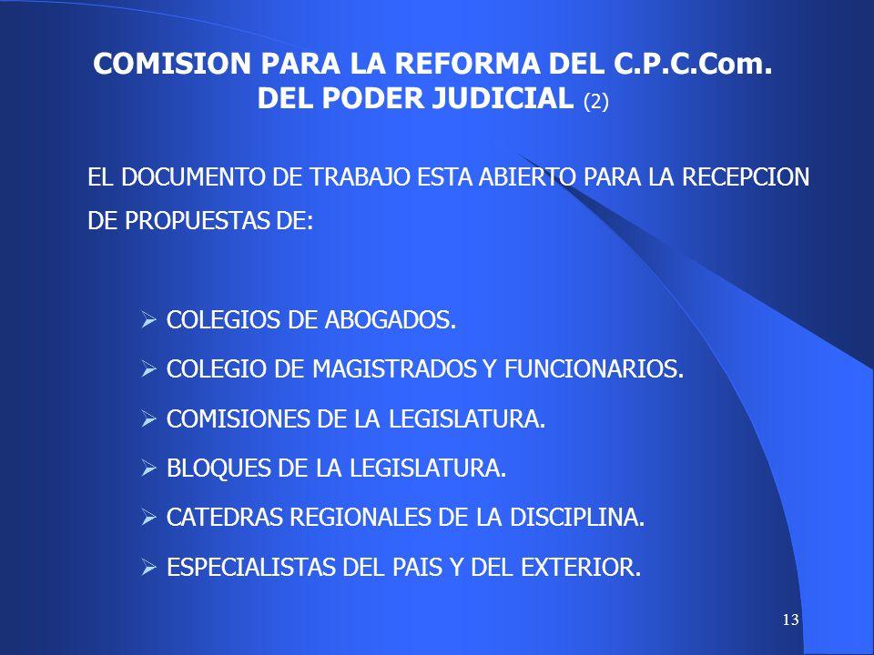 COMISION PARA LA REFORMA DEL C.P.C.Com. DEL PODER JUDICIAL (2)