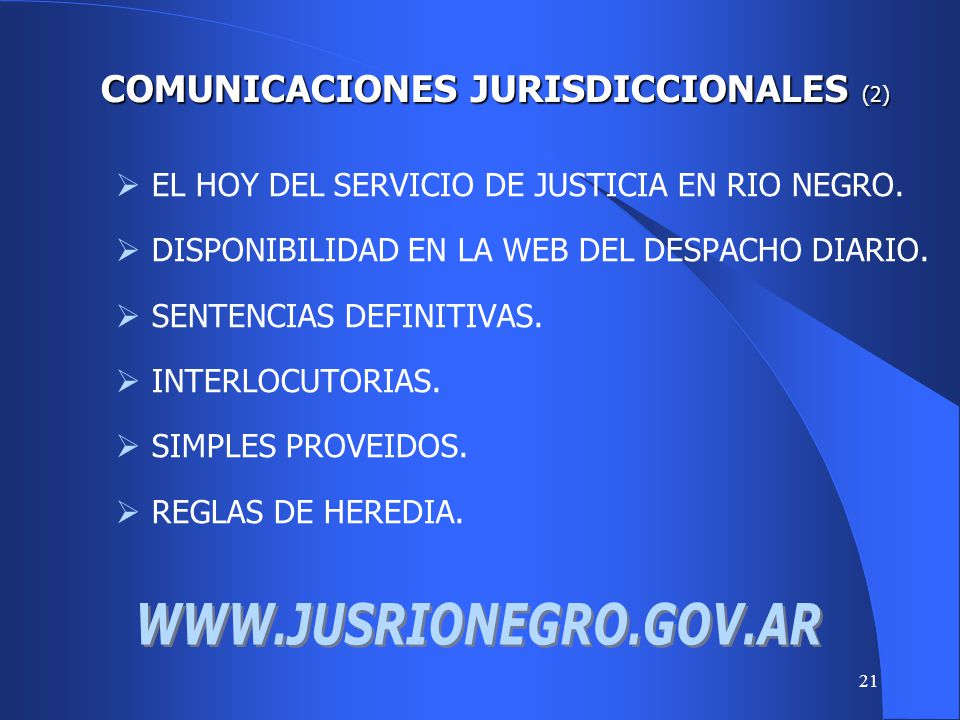 COMUNICACIONES JURISDICCIONALES (2)