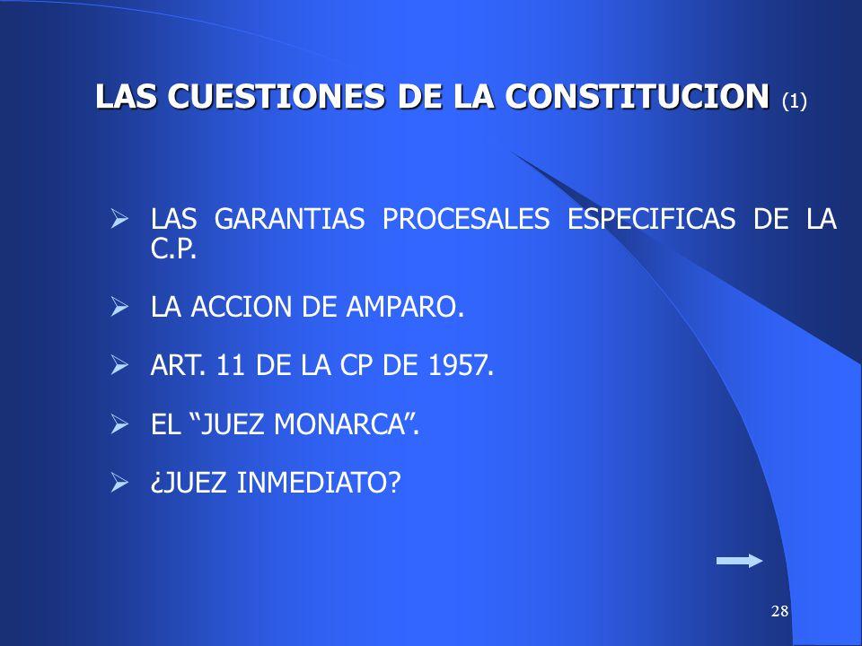 LAS CUESTIONES DE LA CONSTITUCION (1)