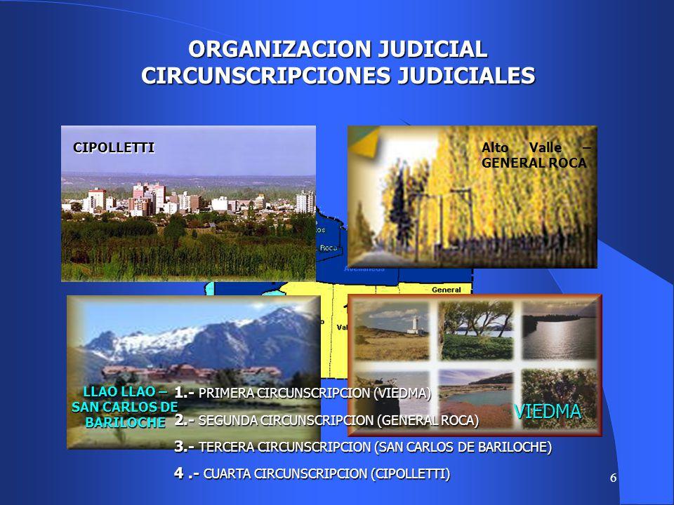 ORGANIZACION JUDICIAL CIRCUNSCRIPCIONES JUDICIALES