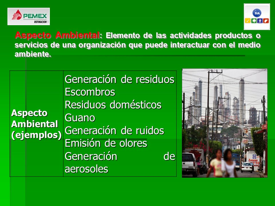 Generación de residuos Escombros Residuos domésticos Guano