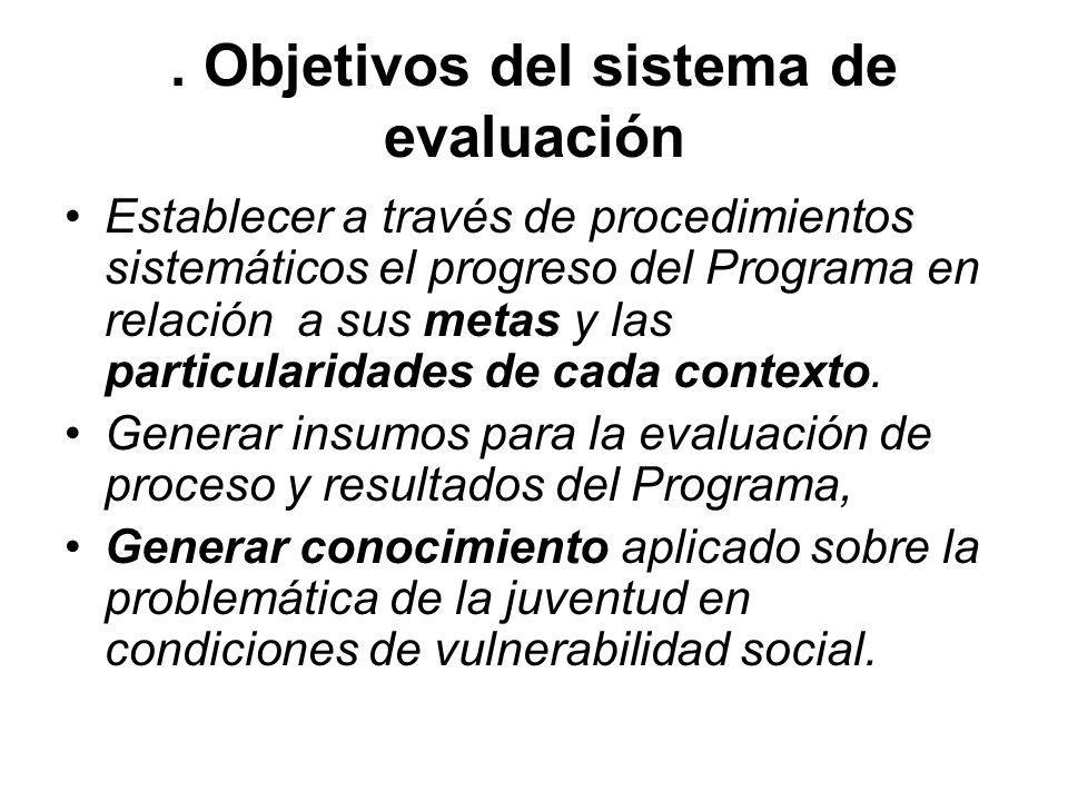 . Objetivos del sistema de evaluación