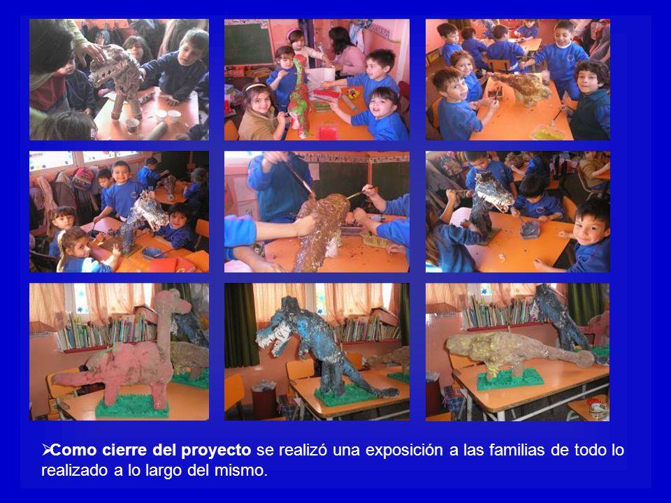 Como cierre del proyecto se realizó una exposición a las familias de todo lo realizado a lo largo del mismo.