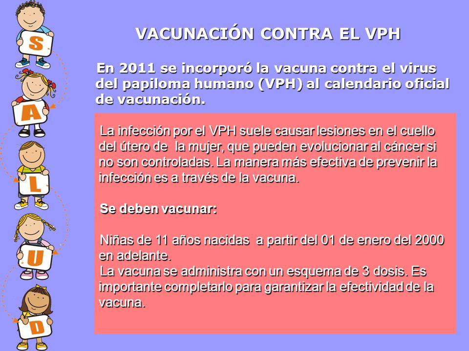 VACUNACIÓN CONTRA EL VPH