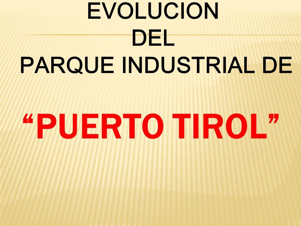 EVOLUCION DEL PARQUE INDUSTRIAL DE