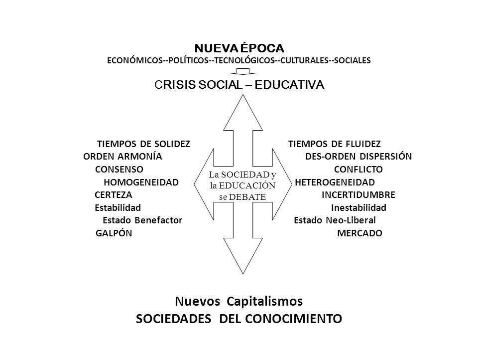 La SOCIEDAD y la EDUCACIÓN se DEBATE