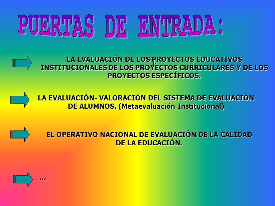 EL OPERATIVO NACIONAL DE EVALUACIÓN DE LA CALIDAD DE LA EDUCACIÓN.