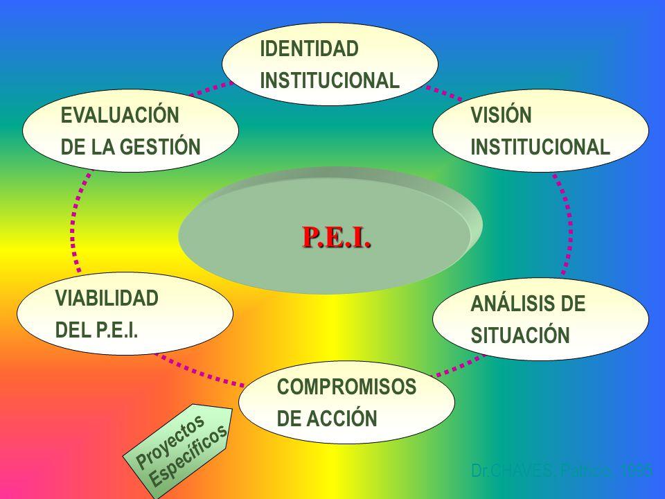 P.E.I. IDENTIDAD INSTITUCIONAL EVALUACIÓN DE LA GESTIÓN VISIÓN