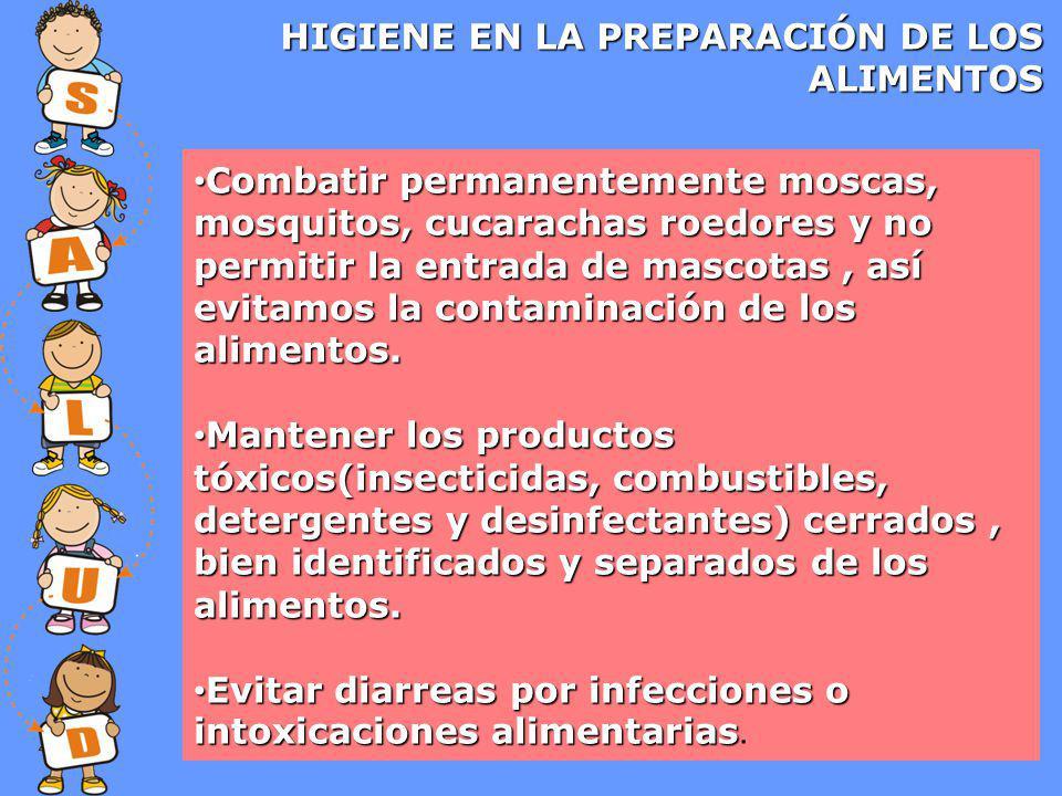 HIGIENE EN LA PREPARACIÓN DE LOS ALIMENTOS