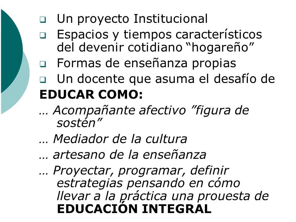 Un proyecto Institucional