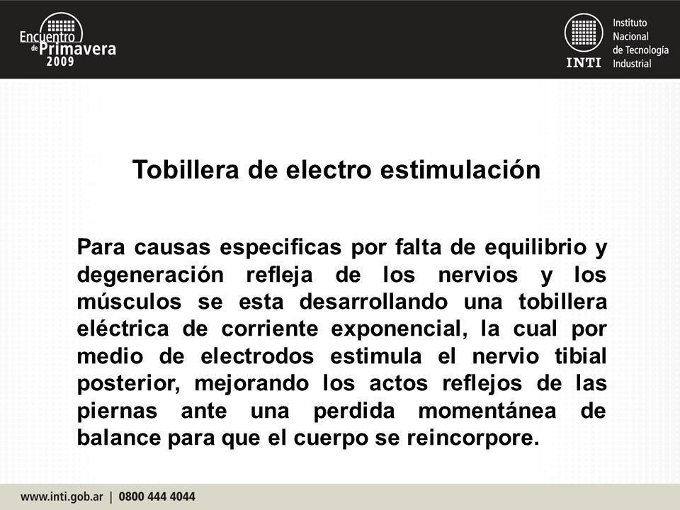 Tobillera de electro estimulación