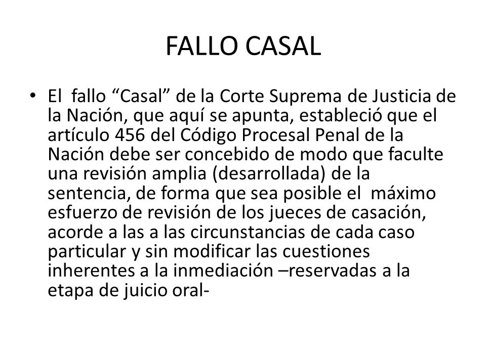 FALLO CASAL