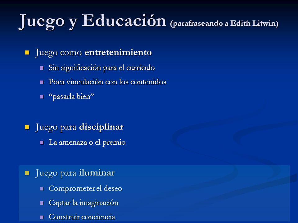 Juego y Educación (parafraseando a Edith Litwin)