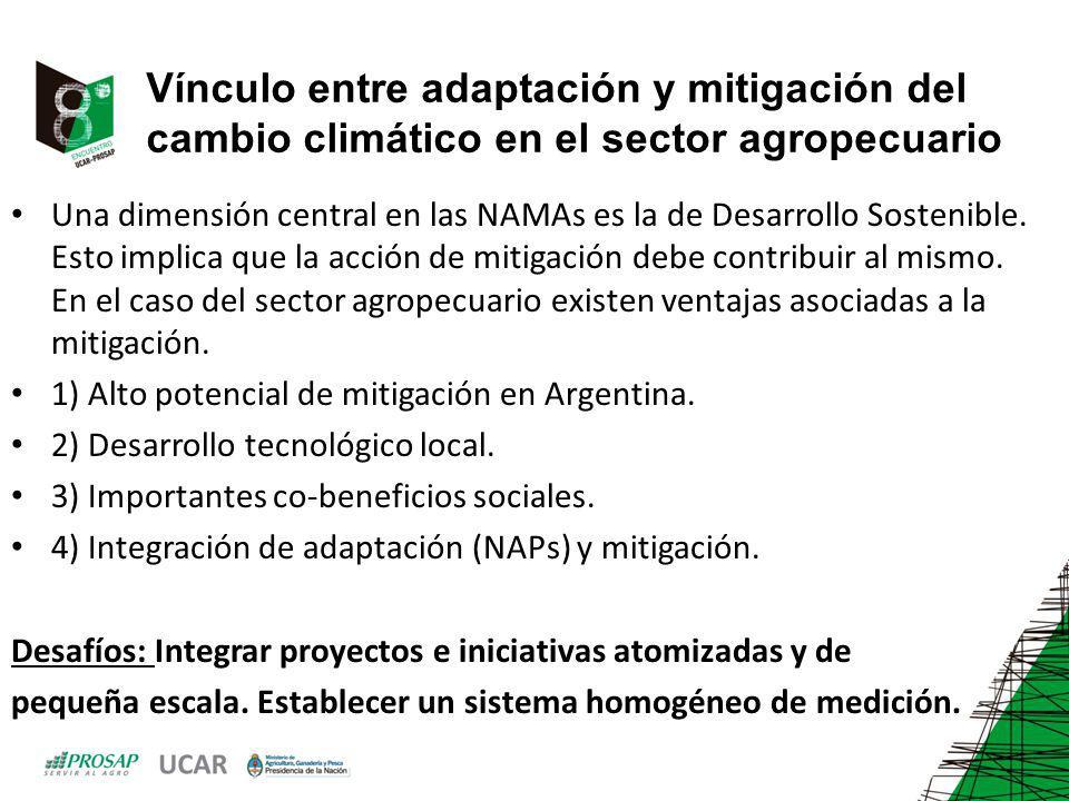 Vínculo entre adaptación y mitigación del cambio climático en el sector agropecuario