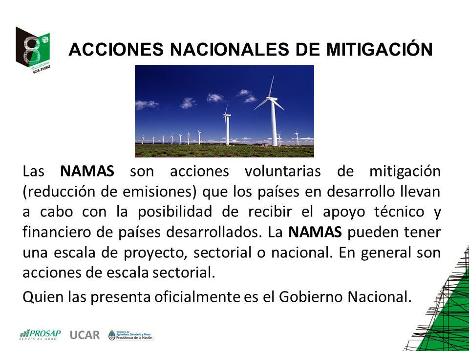 ACCIONES NACIONALES DE MITIGACIÓN